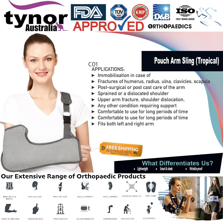 Tynor® Arm Sling Shoulder Support Brace Injury Wrinkle Proo