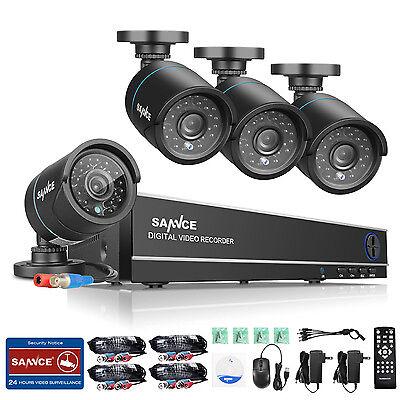 Sannce 8Kanal 720P Video Überwachungskamera 1500TVL 1TB Haus KomplettSystem Set