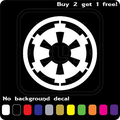 STAR WARS LOGO GALACTIC EMPIRE STICKER VINYL DECAL CAR WINDOW Buy2Get1Free](Star Wars Decals)