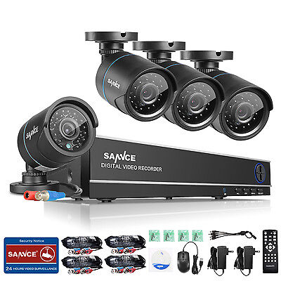SANNCE 8CH 5in1 DVR In/Outdoor 1500TVL Camera Home Surveillance Security System