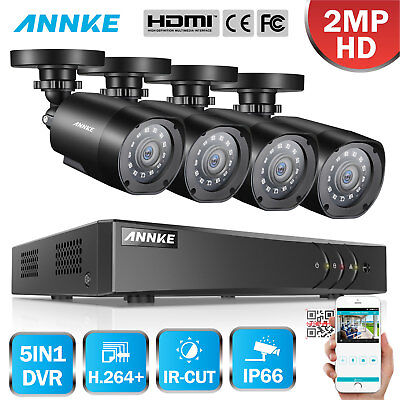 ANNKE 5IN1 1080P Lite 8CH DVR 4pcs 3000TVL CCTV Camera Security TVI System IP66