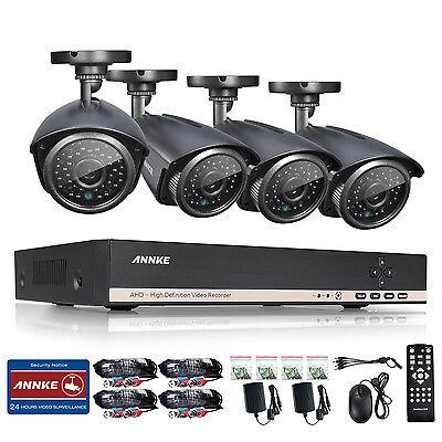 ANNKE 8CH HDMI DVR Outdoor 1800TVL IR Home Surveillance Security Camera System