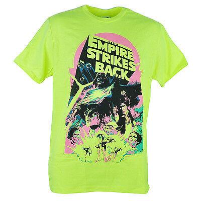 Star Wars The Empire Strikes Back Darth Vader Cast Neon Yellow Tshirt Tee