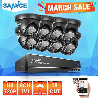 SANNCE 8CH HD 1080N 8X720P CCTV Home Surveillance Security Cameras System Kit