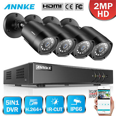 ANNKE 5IN1 H.264+ 1080P Lite 8+2CH DVR 4X3000TVL CCTV Camera Security TVI System