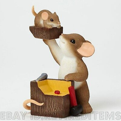 NEW A Real Chip Off The Old Block CHARMING TAILS Figurine Enesco fall tales mice