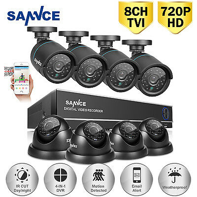 SANNCE 8CH 1080N HDMI 4in1 DVR 1500TVL Outdoor CCTV Home Security Camera System