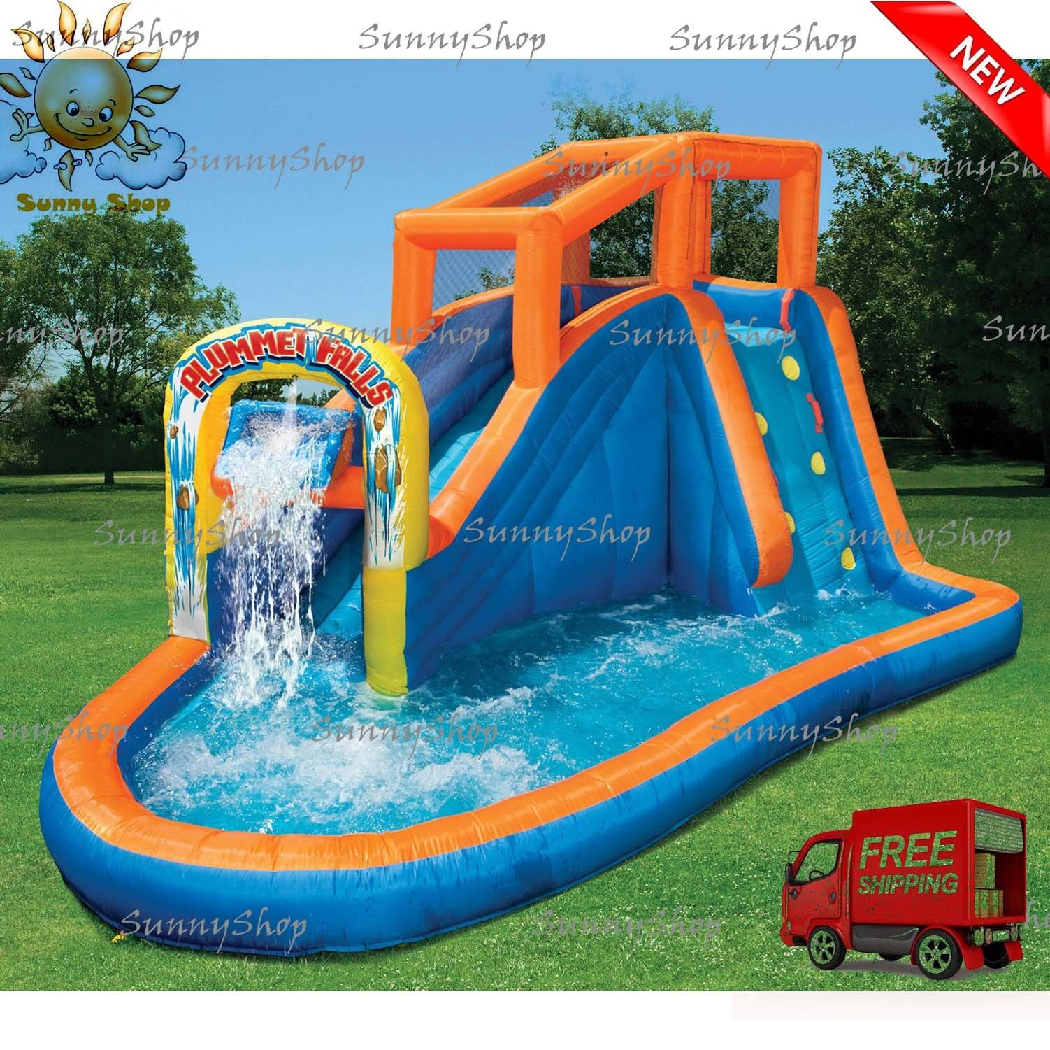 water slide inflatable banzai sidewinder falls inflatable water