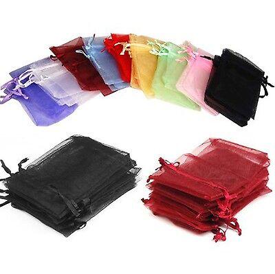 50 Bag Gift Small Black Velvet Cloth Jewelry Pouch Drawstrin