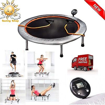 36 Mini Trampoline Gym Circuit Trainer Fitness Exercise Workout Cardio Rebounder