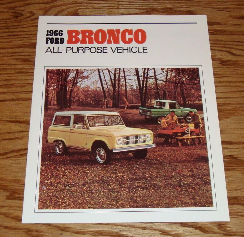 1966 Ford Bronco Sales Brochure 66