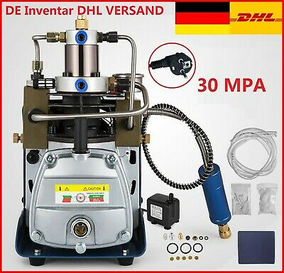 Elektrische Hochdruckluftpumpe Kompressorpumpe 30MPA 4500PSI Air Pump DE DHL