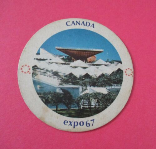 Expo 67 Montreal Canada Beer Coaster / Sous Verre