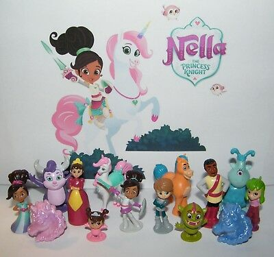 Nella the Princess Knight  Party Favors Set of 14 with 12 Figures and 2 UniRings - Knights And Princess