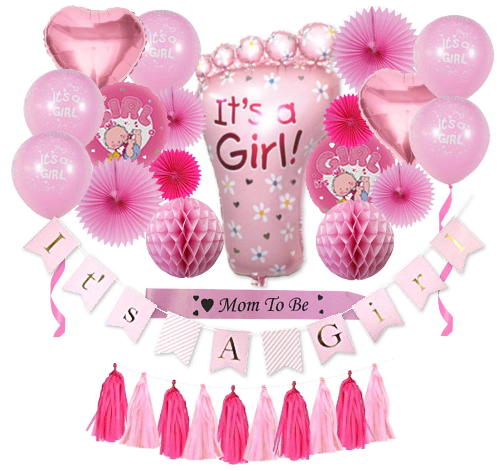 Complete Premium 31 PCS Baby Shower Decorationsfor Girls P
