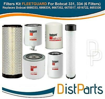 Maintenance Filters Kit Fleetguard For Bobcat 331 334 Mini Excavator