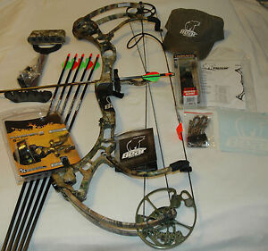 New-2012-Fred-Bear-CARNAGE-29-70-Right-Hand-Compound-Bow-Package-APG-Camo