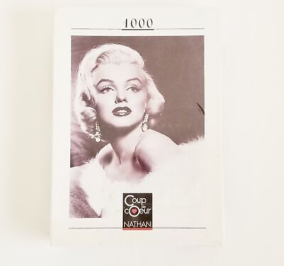 Marilyn Monroe Coup De Coeur Nathan 1000pc Jigsaw Puzzle, Factory Sealed, Rare