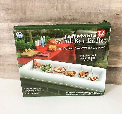 Inflatable Salad Bar Buffet Picnic Drink Table Cooler Party Ice Chest New In Box
