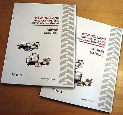 New Holland 1068 1069 1075 8500 Bale Wagon StackCruiser Service Repair Manual -