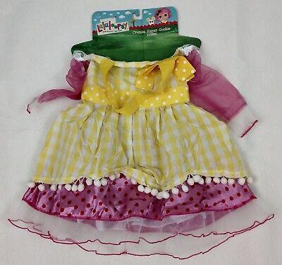 Lalaloopsy Costume Crumb Sugar Cookie Girls Yellow Dress Fantasy NEW (Crumb Sugar Cookie)
