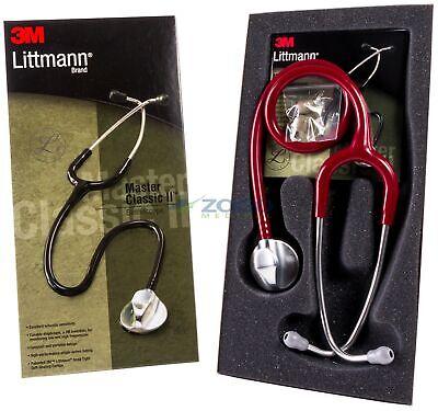 Littmann Master Classic II Stethoscope, Adult, Burgundy 2146