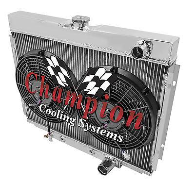 1967 68 69 70 Ford Mustang 4 Row Best Champion Alum Radiator Fan