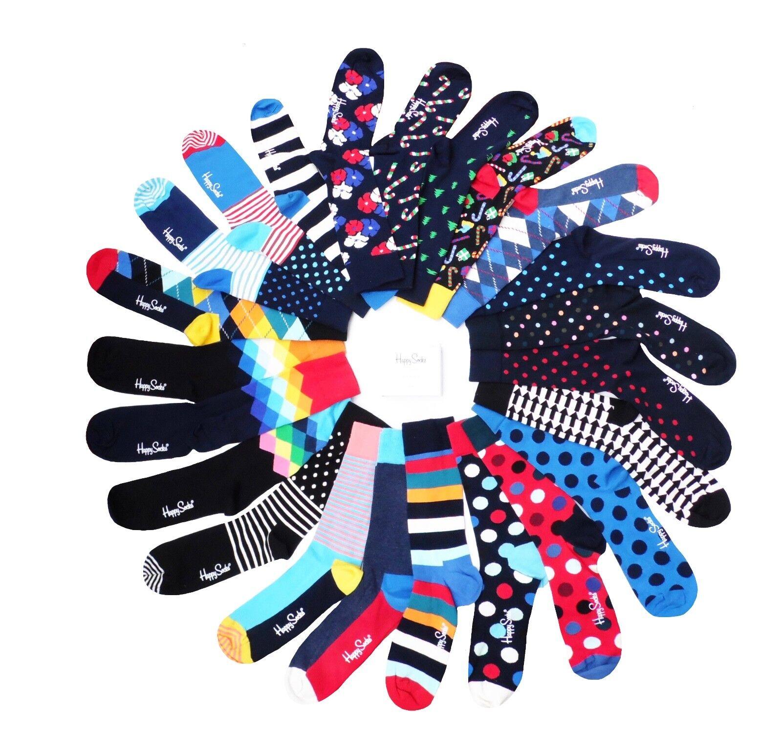 Happy Socks  coole bunte Socken mit witzigen Mustern & Designs  41 - 46  Neu