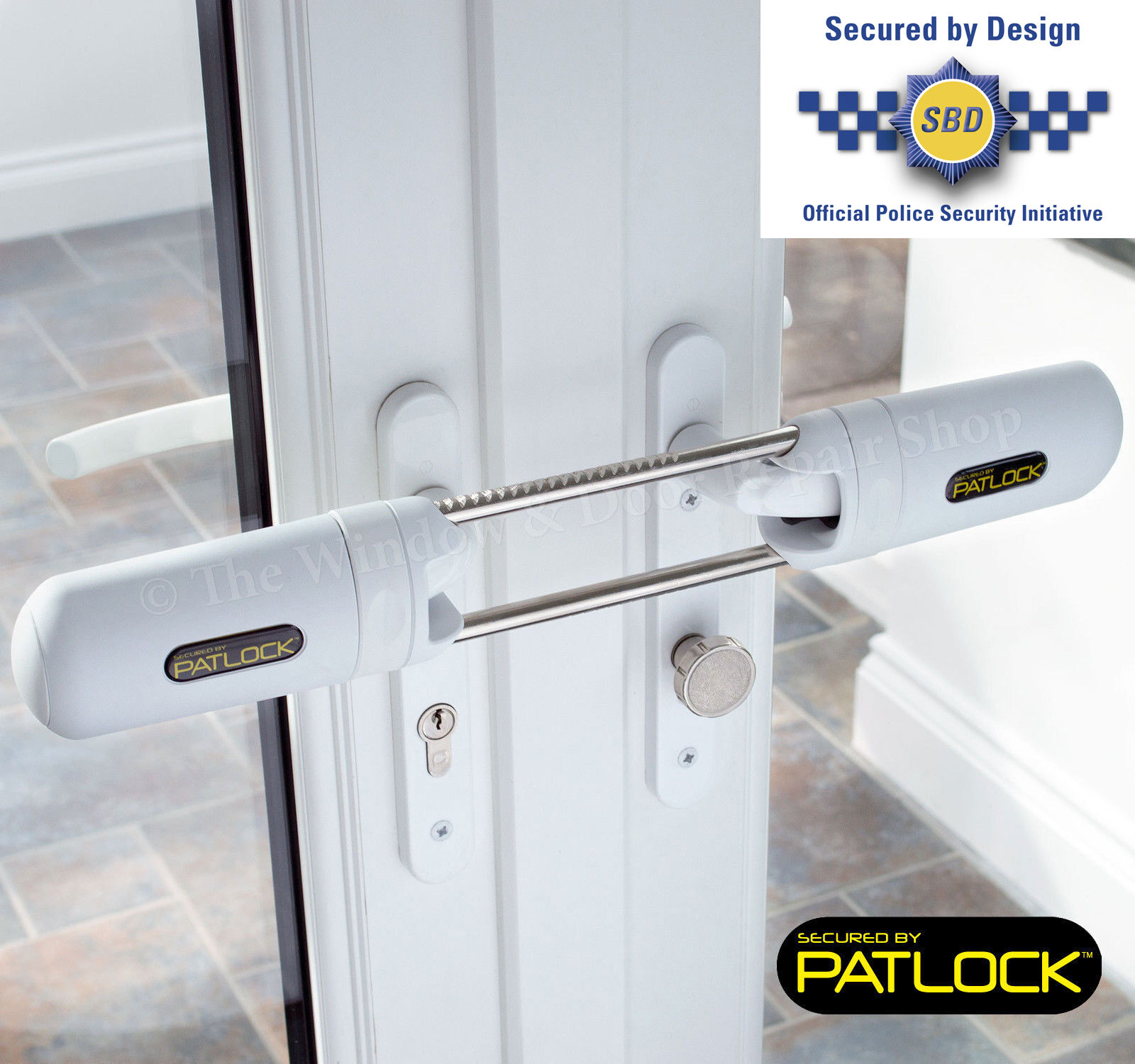 Patlock Patio Conservatory French Double Door Dead Lock