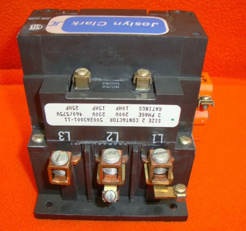 NEW Joslyn Clark 5002A3001-11 Motor Starter Contactor 5002A-3001-11
