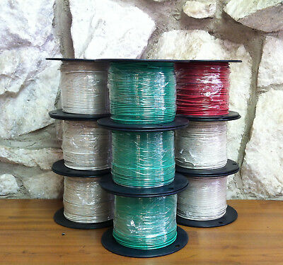 500 Ft Tfntewn Wire. 16 Awg Solid 600 Volt. Made In Usa. 12 Red 2 Black Reels