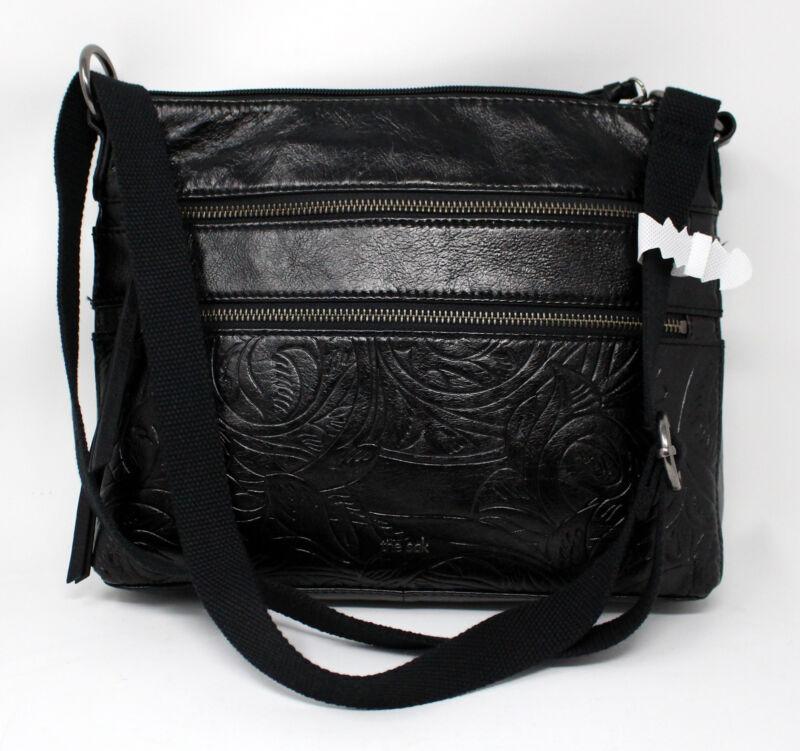 The Sak Reseda Black Leather Crossbody Handbag