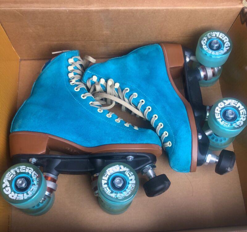 Pool Blue Moxi Roller Skates Size 4 (Women's size 5-5.5)