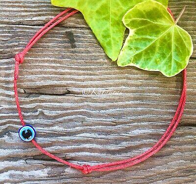 Evil Eye Ankle Bracelet PROTECTION Anklet Red Kabbalah String FORTUNE KARMA ZEN