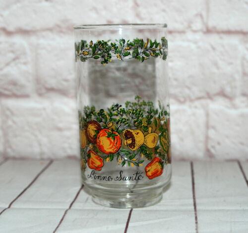 Vtg Libbey Glass Tumbler Spice of Life Corelle Pattern Bonne Sante Veggie Garden