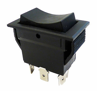 Rocker Switch - On Off On - Momentary Snap In - Dpdt 20a Up To 30a 30 Amp Use