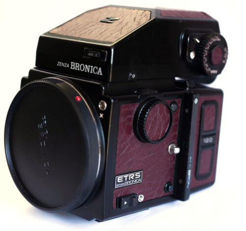 Bronica ETRS Replacement Cover, Laser Cut - Recycled Leather - Vintage