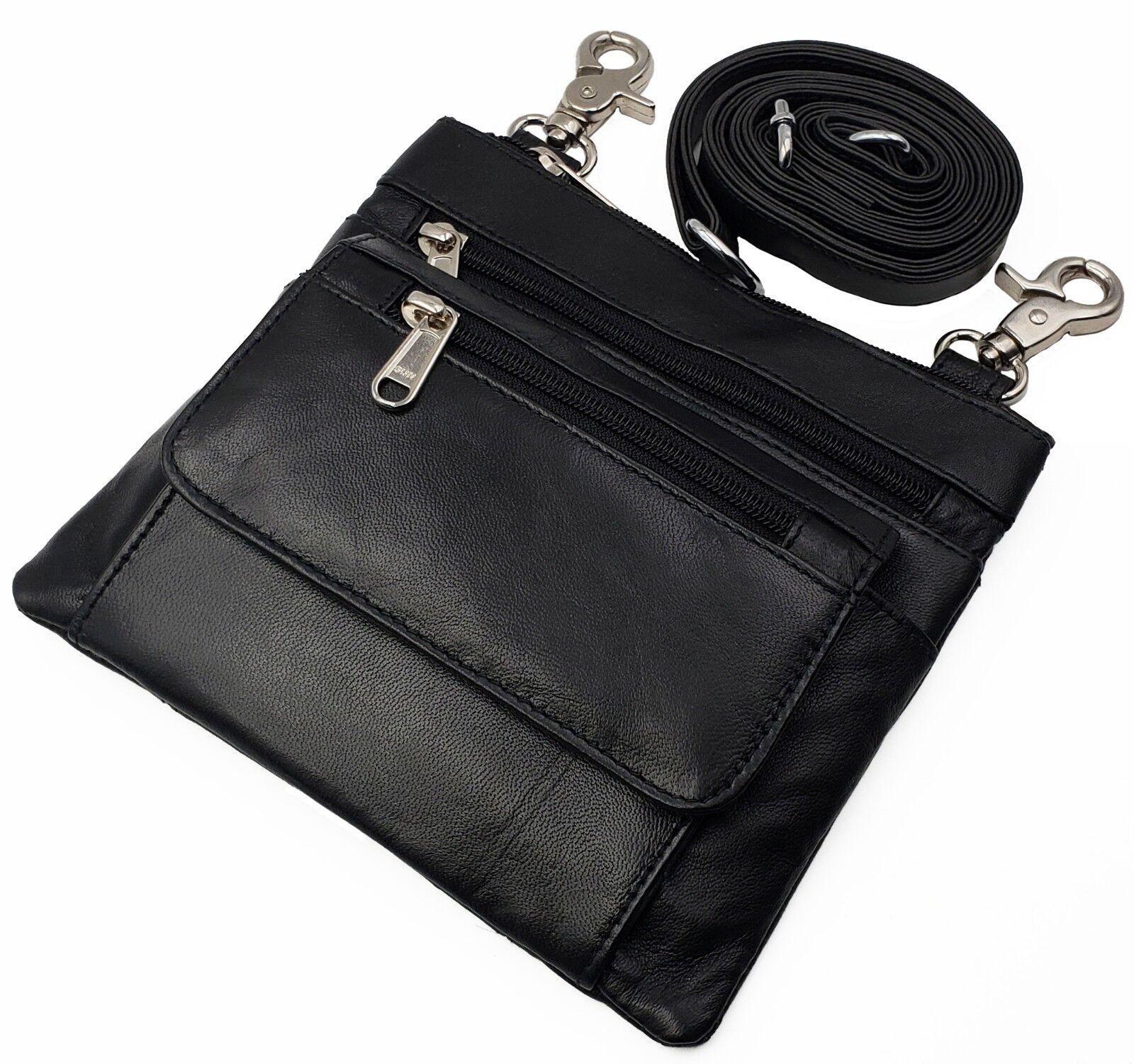 Biker Boho Waist Loop Pouch Hip Fanny Cross-Body Bag Leather