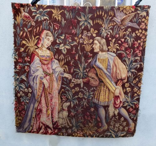 A 19th Century Wool & Silk Medieval Style Tapestry