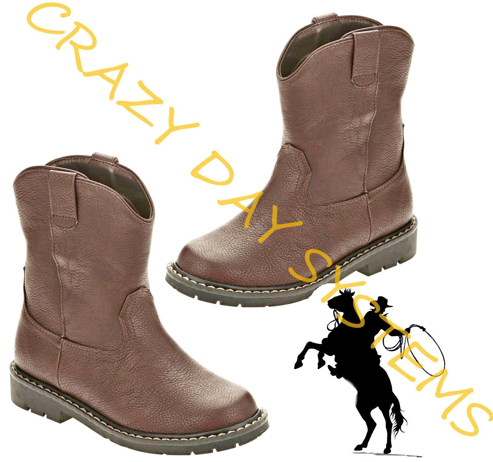 Garanimals CowBoy Boots Western Faux Leather 2 Infant- 6T To