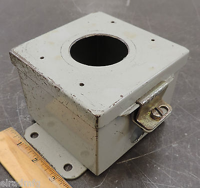 Hoffman Enclosure Electric Box 4x4x3 Electrical Push Button Used