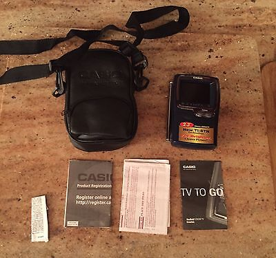 """Casio TV-980B Ti-STN 2.3"""" Portable LCD Color Television With Case. Collectible"""