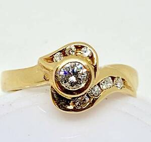 18ct Yellow Gold & Diamond Ring Revesby Bankstown Area Preview