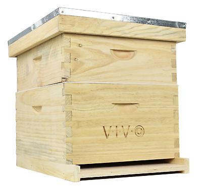 Complete Beekeeping 20 Frame Beehive Box 10 Medium 10 Deep Langstroth Bee Hive