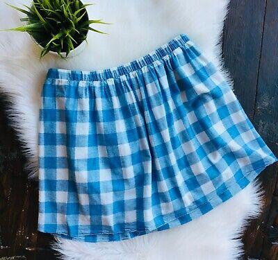 J. CREW Blue White Buffalo Check Sidewalk Skirt Women's 4 EUC