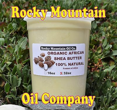 100% ORGANIC VIRGIN RAW AFRICAN SHEA BUTTER UNREFINED 32 oz 2 lb GRADE A