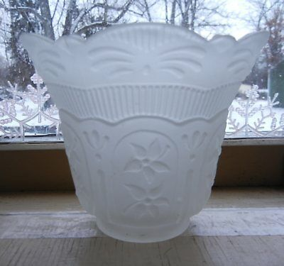 (VINTAGE SATIN GLASS LAMP SHADE 4-1/8