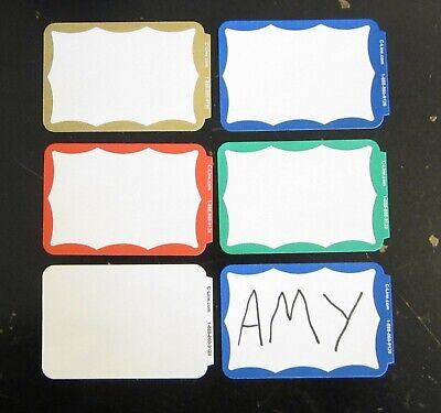 200 Name Tags Labels Border Badges Stickers Peel Stick Adhesive Id Christmas Tag