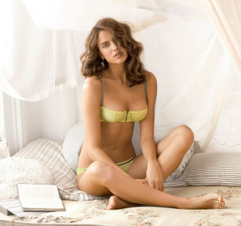 Irina Shayk With Yellow Lingerie 8x10 Photo Print