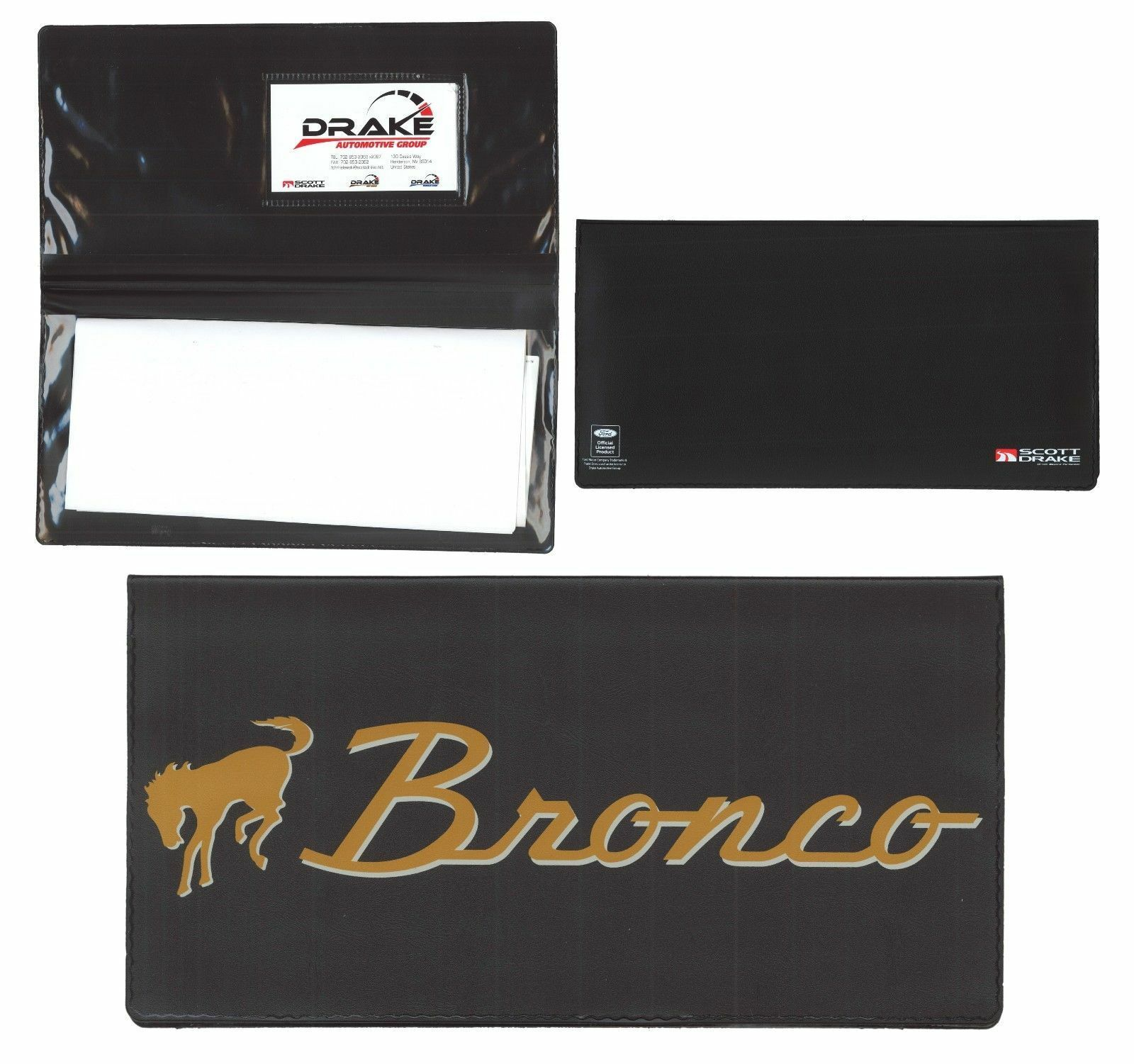 1966 1977 Ford BRONCO Owners Manual Wallet Ford Licensed